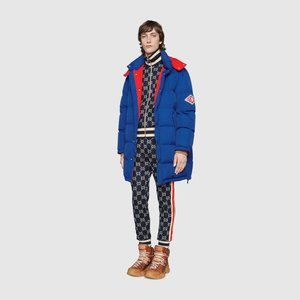 GG jacquard cotton jacket men